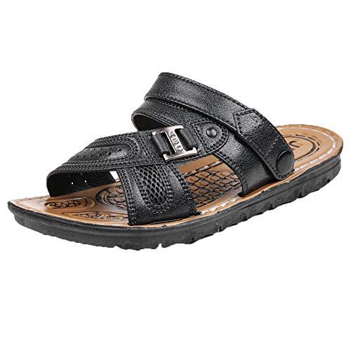 Beikoard Männer Strandsandalen Römische Schuhe Sommer Flache Fersen Männlichen Slides Sandalen Rutschfeste Strandschuhe für Männer Hausschuhe
