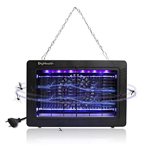 DigHealth-Lampara Antimosquitos, 7W UV LED Repelente Zancudos Luces,Mata Mosquitos Electrico con Ventilador,Cable de Alimentación de 150 cm,Mata Insectos y Moscas y Polillas Electrico Interior