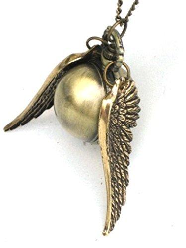 Harry Medaillon Halskette Potter (Steampunk Halskette Golden Snitch Zeit-teiliges Orb B)
