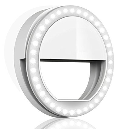 Rewy SG-01 Selfie Beauty Ring Light Portable LED Flash Light for All Android,Windows, iOS Smartphones and Tablets (Assorted Colour)