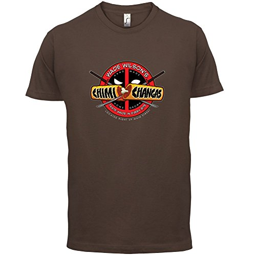 Wade Wilsons Chimi Changas - Herren T-Shirt - 13 Farben Schokobraun