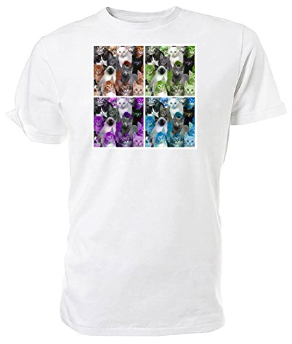 Pop Art Gatti T Shirt White