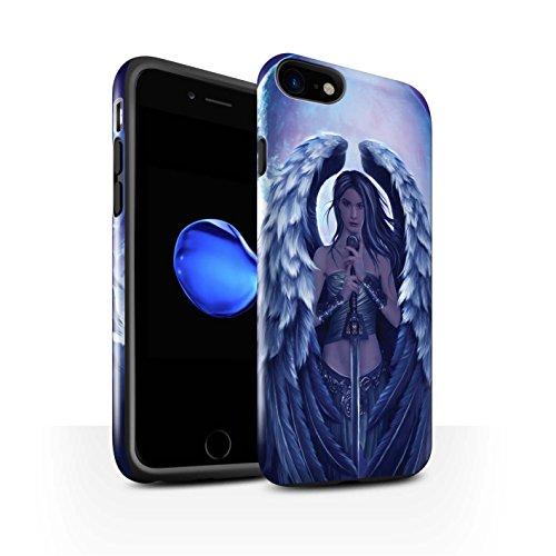 Officiel Elena Dudina Coque / Brillant Robuste Antichoc Etui pour Apple iPhone 7 / Feu et d'Acier Design / Super Héroïne Collection Ange Gardien