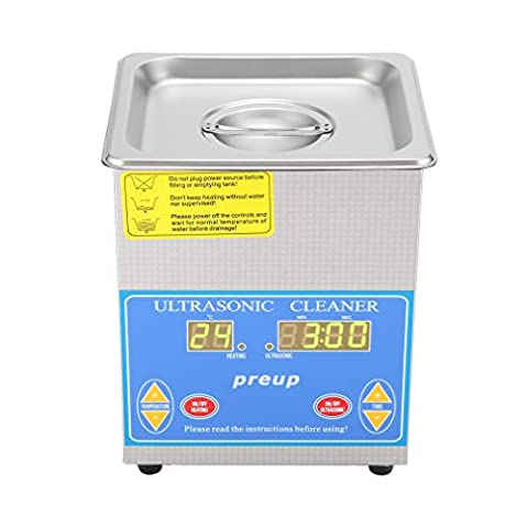 ICOCO 1.3L Digital Ultrasonic Cleaner, Stainless Steel High-Power Ultrasonic Washer with Digital Timer Jewelry Watch Glasses