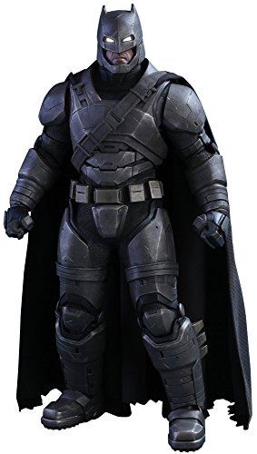Hot Toys Batman VS Superman - Figura de Batman, Escala 1:6, diseño con Texto en inglés Armored Batman, Color Negro y Gris 1