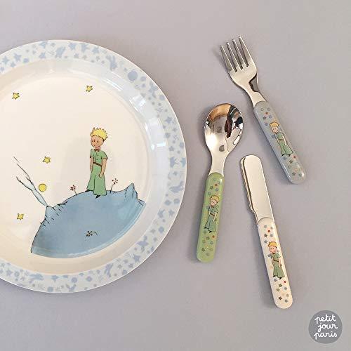 Petit Jour Paris - Juego de vajilla de aprendizaje del pequeño príncipe - apoya la autonomía.
