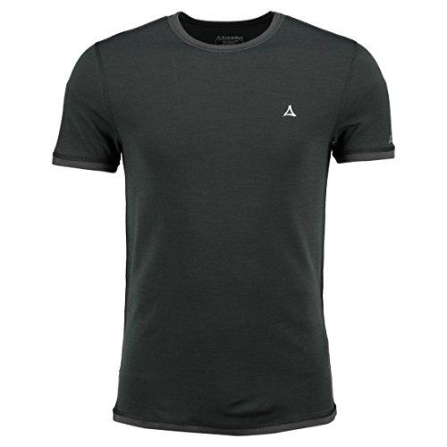 Schöffel Herren Merino Sport T-Shirt 1/2 Arm, Pirate Black, M - Armee Ein T-shirt
