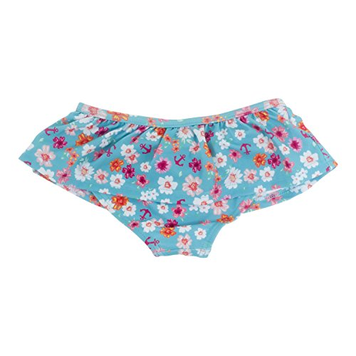 Banz Baby Culotte de Bain à Volants Enfant Fille, Anti-UV, Flowers, 18 Mois