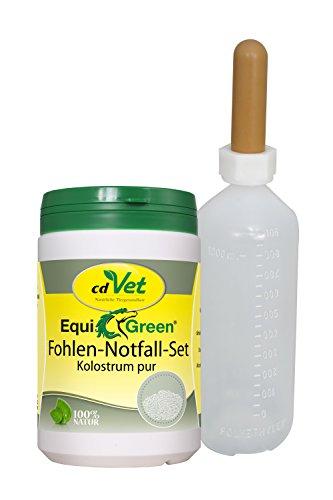 cdVet Naturprodukte EquiGreen Fohlen-Notfall-Set 500g + Flasche -