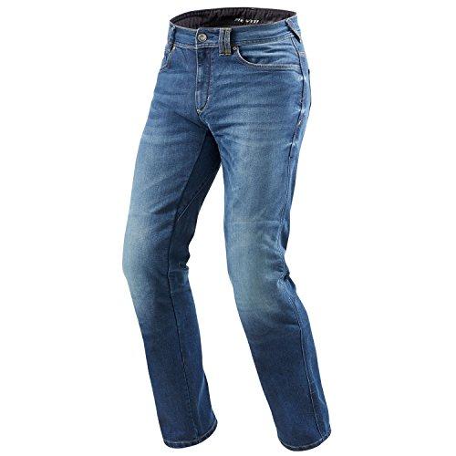 REV'IT! PHILLY 2 LF Herren Motorrad Jeans std/kurz/lang (medium blau, 36/32)
