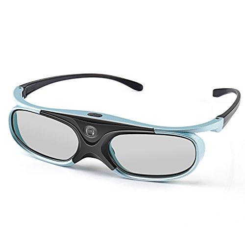 APEMAN 3D DLP Brille DLP Shutter Glasses Serien Wiederaufladbare 3D VR Brille Hohe Helligkeit und Hoher Kontrast Kompatibel mit Allen DLP-3D-Beamer