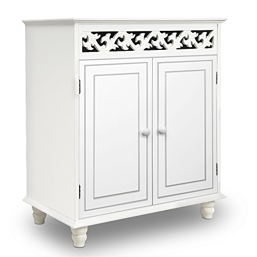 White Wooden Cabinet Cupboard Si...