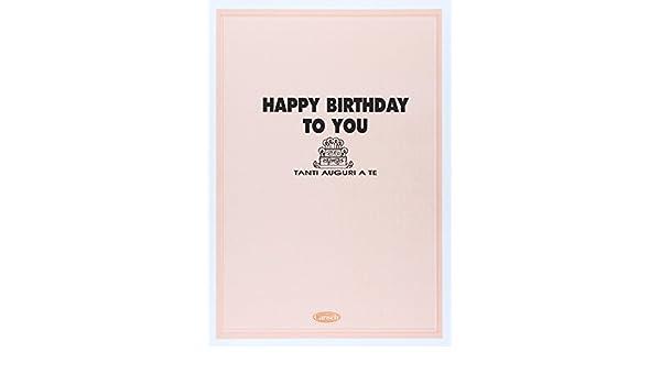 Amazonit Tanti Auguri A Te Happy Birthday To You Aavv Sheet