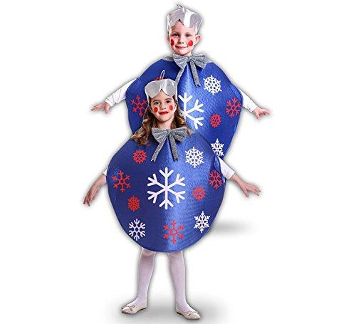 Imagen de disfraz de bola de navidad azul para niños