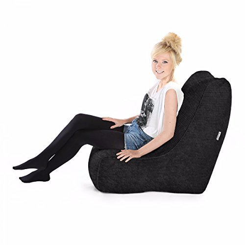 Jumbo Cord Solo Stuhl Bean Bags (schwarz) -