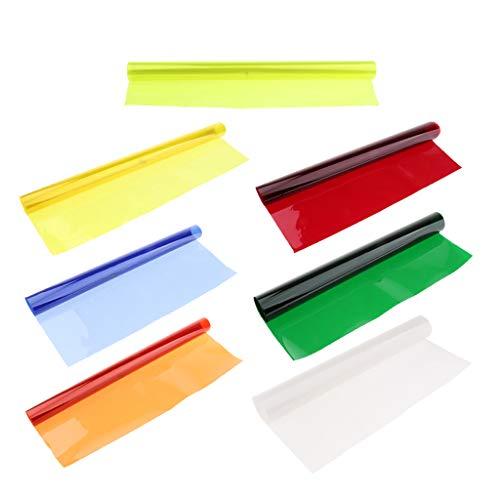 FLAMEER 7X Quadratisches, Vollfarbiges Balance Gel Filter Kit Für Blitzlicht Gel Filter Kit