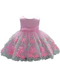 UOMOGO® Vestito Ragazze Bambina Farfalla Cerimonia Elegante Smanicato  Principessa Abiti 0-18 Mesi 814720d776e