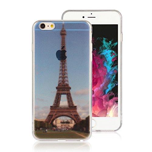 """MOONCASE iPhone 6 Plus Coque, Ultra Mince Motif Etui Souple TPU Silicone Antichoc Housse Case pour iPhone 6 Plus / iPhone 6s Plus (5.5"""") (Londres Tower Bridge) Tour Eiffel"""