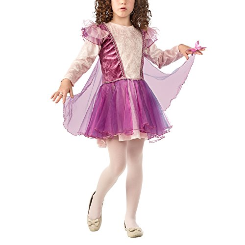 Ballerina Kostüm Fee Kinder Mädchen Kostüm Kleid Pink Violett 7 - 9 Jahre (Von Sieben Neun Kostüme)