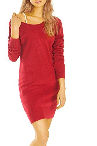 Bestyledberlin pull-over femme, robe t34z Rouge