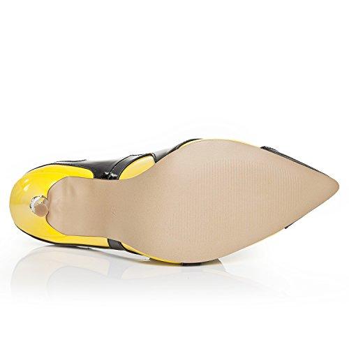 Minitoo ,  Damen Durchgängies Plateau Sandalen mit Keilabsatz Gelb