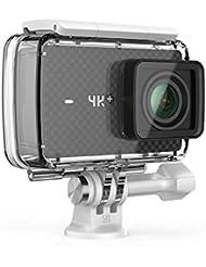 YI 4K Plus Action Kamera Schwarz 4K/60fps 12MP Sensor 2.2'' Touchscreen gebündelt mit YI Wasserfest Gehäuse (EU Version)