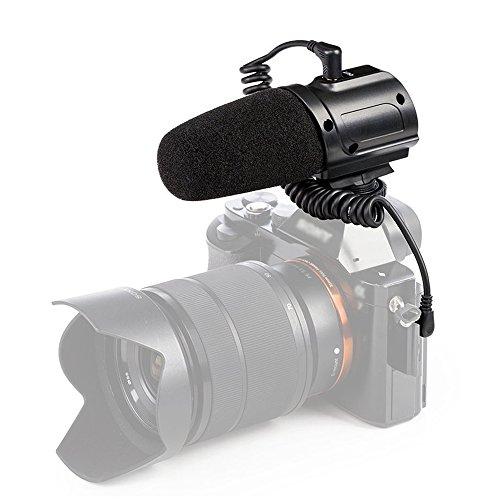 Saramonic SR-PMIC3 Externes On Camera Shotgun Mikrofon Aufnahmemikrofon für Canon Nikon Pentax Olympus Panasonic Digitale Spiegelreflexkamera