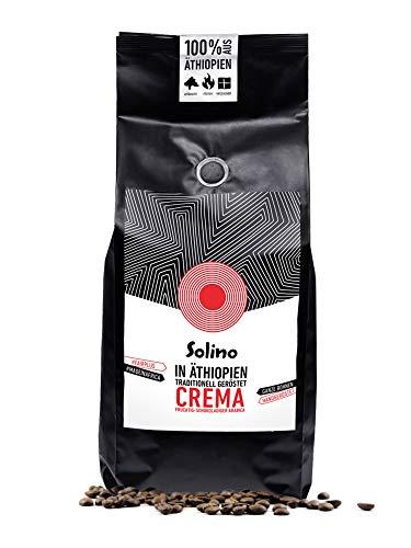 Caffè Crema aus Äthiopien (1kg). Ganze Bohnen, handgeröstet in Ethiopia. Arabica Kaffee, helle Röstung, außergewöhnlicher Genuss (Helle Bohnen, Kaffee Röstung)
