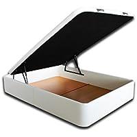 Ventadecolchones - Canapé Modelo Serena Gran Capacidad tapizado en Polipiel Blanco y Medidas 135 x 190 cm