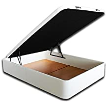Ventadecolchones - Canapé Modelo Serena Gran Capacidad tapizado en Polipiel Blanco y Medidas 120 x 190