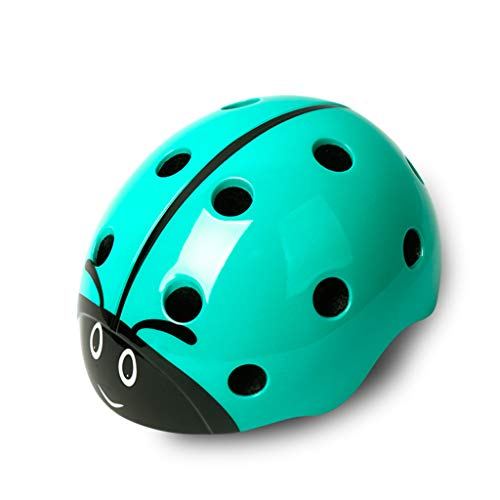 Fahrradhelm Kinder Skating Schutzausrüstung Balance Auto Bike Boy Mädchen Kind Schutzhelm Ausrüstung Einteiliges Kind 3D Tier Helm (Farbe : Green Beetle) (Kid-bike-helm-auto)