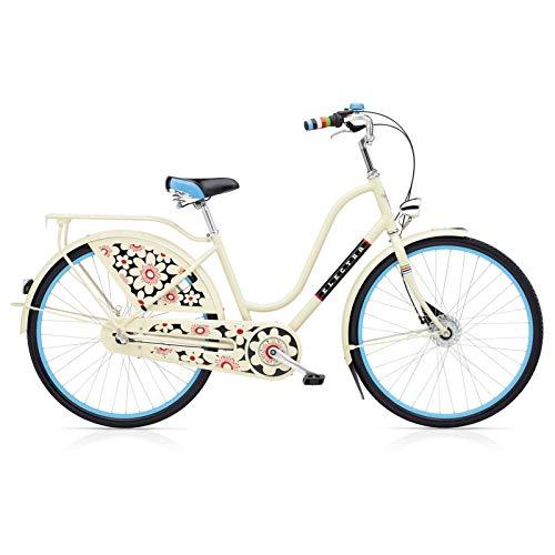Electra Amsterdam 3I Ladies Bloom Fahrrad Cream Stadt Holland Retro Damen Aluminium Rad Bike, 193103 - Beach Aluminium Cruiser