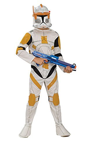 Generique Clone Trooper Commander Cody Star Wars Kinderkostüm 104 (3-4 Jahre) (Star Wars Commander Cody Kostüm)