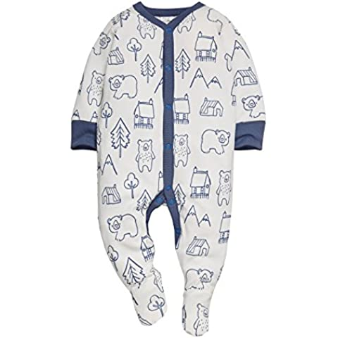 next Bebé-Niños Pack De Tres Pijamas Oso Azul Marino (0 Meses-2 Años)