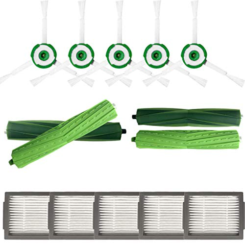 Gaddrt Staubsaugerfilter Seitenbürste Hepa-Filter Borstenbürste für iRobot Roomba i7 i7 + / i7 plus E5 E6 E7 Staubsauger Cleaner