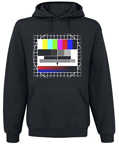 Sfondo Test TV Felpa con cappuccio nero XL
