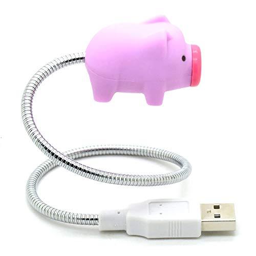 Mini Niedliches rosa Schwein bewegliche flexible USB-LED-Licht-Lampe Schwein für Laptop-Nachtlicht (Flexible Lampe)
