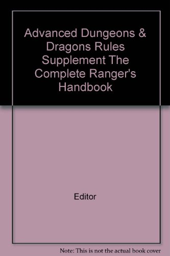 Advanced Dungeons & Dragons Rules Supplement The Complete Ranger's Handbook