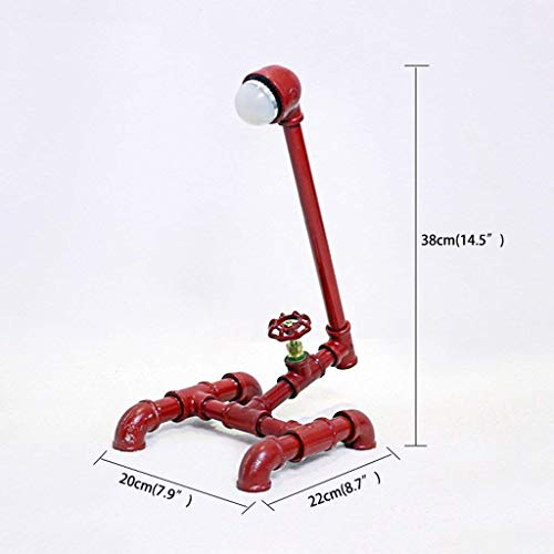 ChuanHan Ceiling Fan Light Chandelier Lightings Table Lamp Retro Industrial Punk Steam Table Red Led Study Bedside