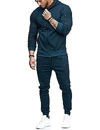 Sweat-Shirt à glissière d automne pour Homme Top Pantalons Ensembles Sports  Survêtement Costume e6d9bd71a62