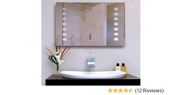 illuminated led bathroom mirror amazon co uk lighting rh amazon co uk