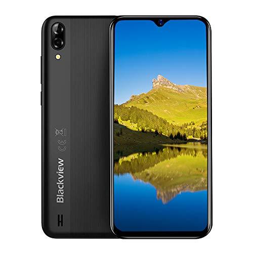 """Blackview A60 pro (2019) 4G Smartphones Handy Ohne Vertrag, Android 9.0 6,1\"""" Wassertropfen Bildschirm Dual-SIM 2,0 GHz 3GB + 16GB, 4080mAh Akku, Schwarz"""