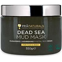 PraNaturals Maschera al fango del Mar Morto 100% naturale 500g, naturalmente ricca di minerali nutrienti, idrata, disintossica la pelle e pulisce i pori, esfolia le cellule morte della pelle