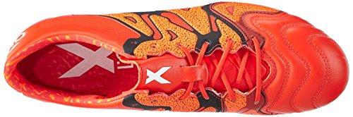 adidas Performance Herren X15.1 Fg/Ag Leather Fußballschuhe Rot (Solar Orange/Core Black/Bold Orange)