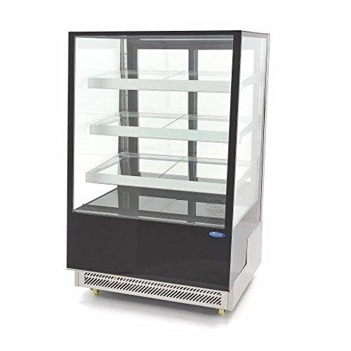 Deluxe Gebäck Kühlvitrine/Bäckereivitrine 500L Schwarz