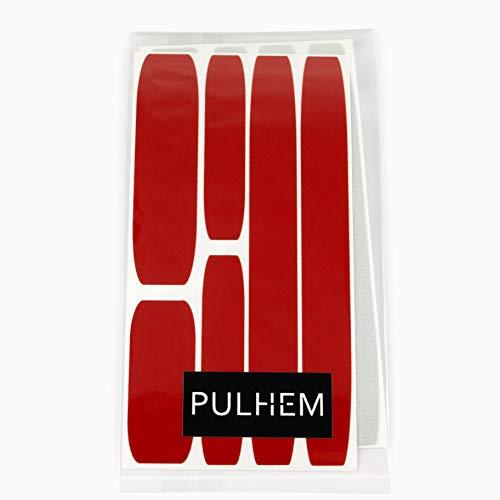 PULHEM reflektierendes Reflex-Aufkleber Set12 aus Reflexfolie rot und weiß