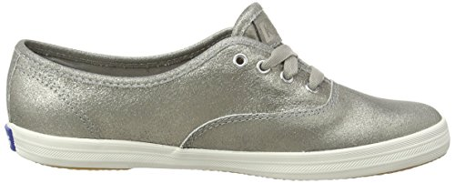Keds Ch Met Leather Silver, Chaussures à Lacets Femme Silver (Sliver)