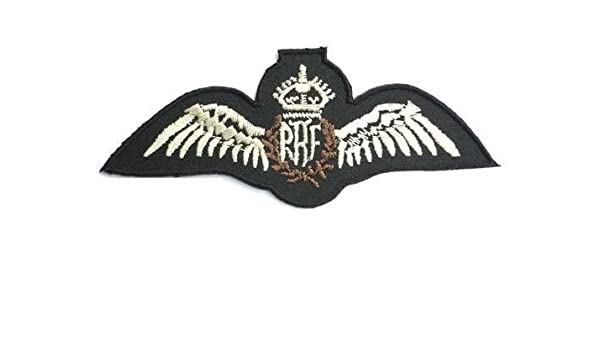 4e4f96bc2 RAF Royal Air Force Wings British Military Pilot Iron On Patch 4.6