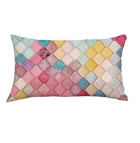 LEEDY - Funda de cojín con un patrón Exquisito, para decoración del hogar, sofá, Coche, Dormitorio...