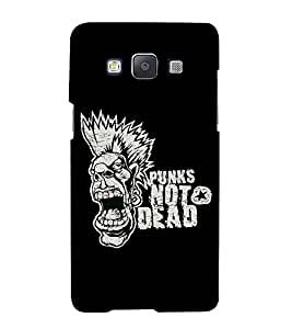 FUSON Punk Not Dead 3D Hard Polycarbonate Designer Back Case Cover for Samsung Galaxy A7 (2015) :: Samsung Galaxy A7 Duos (2015) :: Samsung Galaxy A7 A700F A700Fd A700K/A700S/A700L A7000 A7009 A700H A700Yd